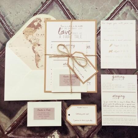 vintage destination wedding invitations