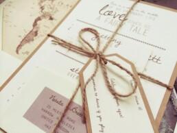 Vintage destination wedding invitations Lucinda