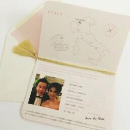 Love Passport wedding Invitation