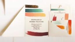 Watercolour Brush Wedding Invitation