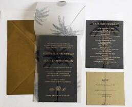Colonial Palm Wedding Invitation