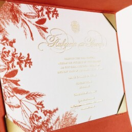 Coral Pocket invitation