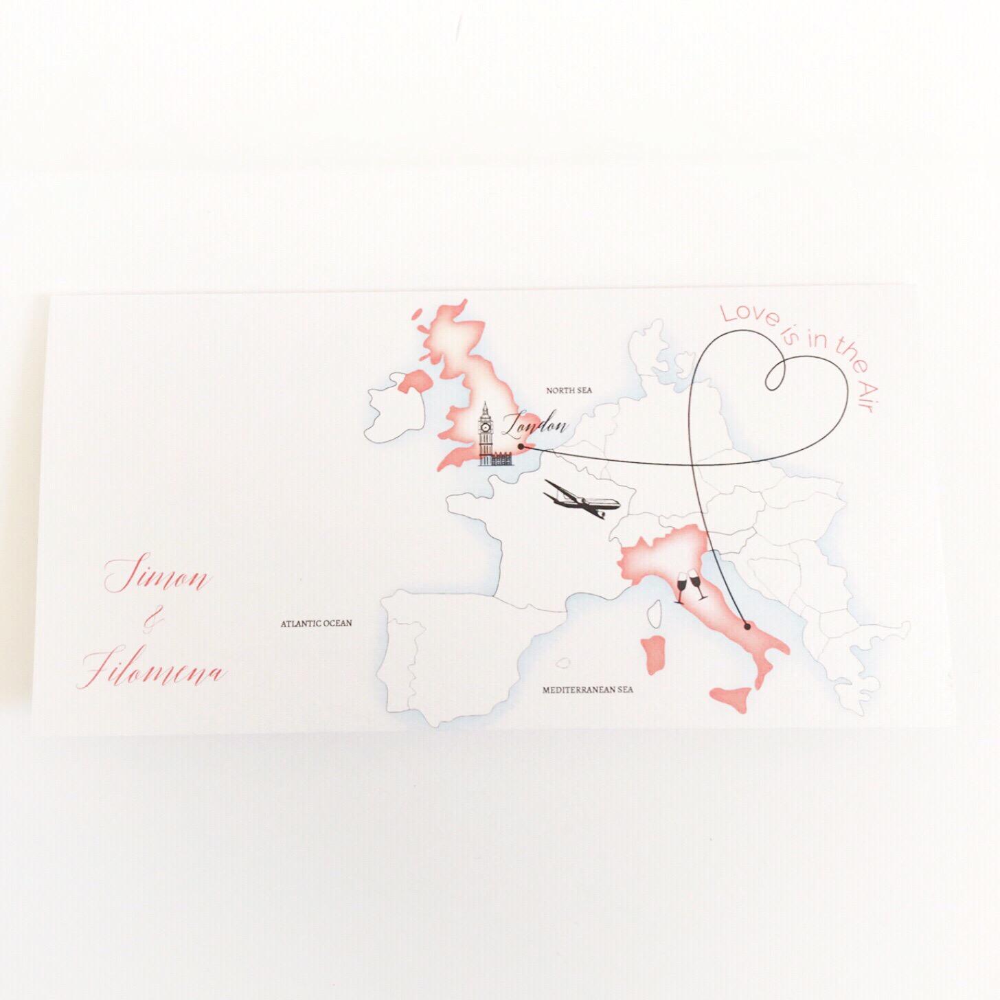Destination Ticket Pocket Invite