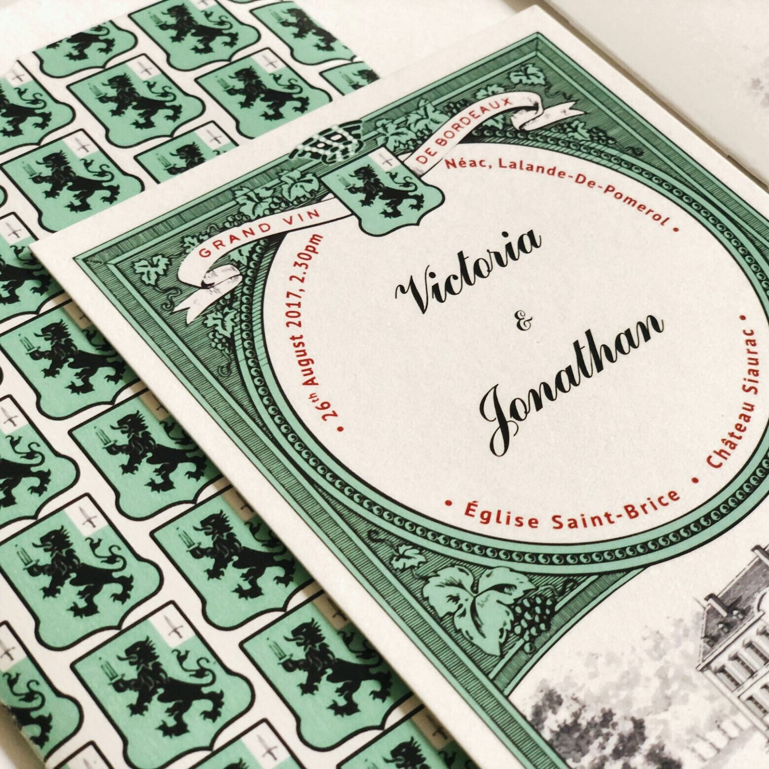 French Chateaux Wedding Invitation