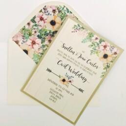 Garden Flowers Wedding Invitation