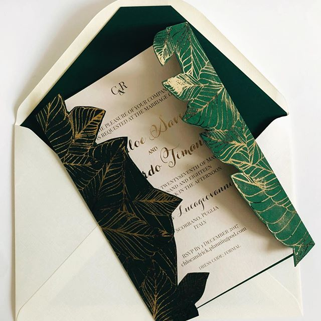 Gatsby goes to Cuba Wedding Invitation
