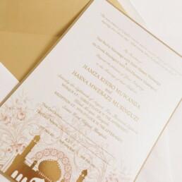 Gold Embossed Muslim Invite