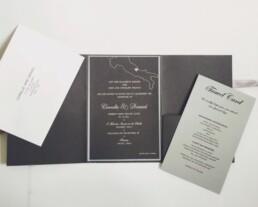Italian Elegance Pocket Wedding Invitation
