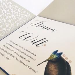 Laser cut Nature Wedding Invitation
