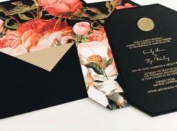 Posh Black Wedding Invitation
