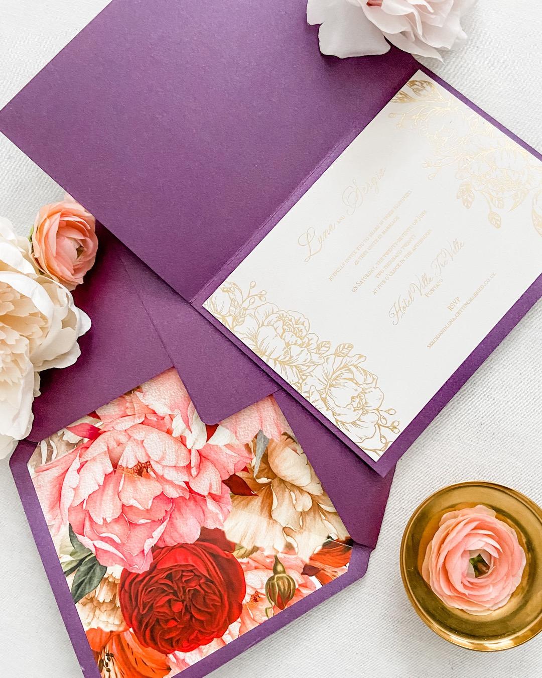 Red velvet wedding invitations